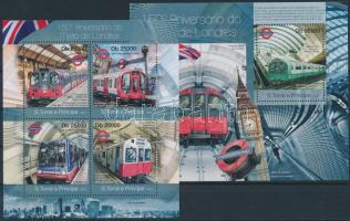 2013 London metró kisív Mi 4986-4989 + blokk Mi 857