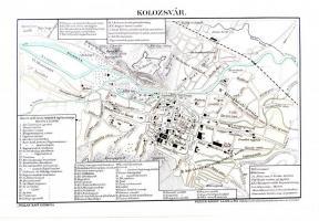 Cca 1895 Kolozsvar Terkep Forras Pallas Nagy Lexikona 24x15cm