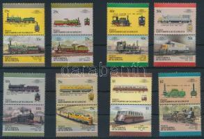 Vonat sor 8 db párban Train set 8 pairs