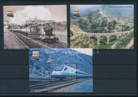 Train mini sheet set + blockset Vonat kisív sor + blokksor
