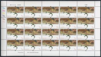 Dinosaurs mini sheet, Dinoszaurusz kisív