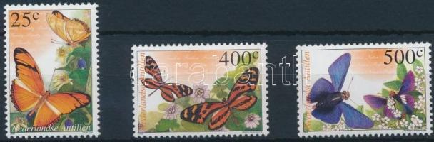 2002 Pillangó sor 3 értéke Mi 1139-1142 (hiányzik/missing Mi 1140)