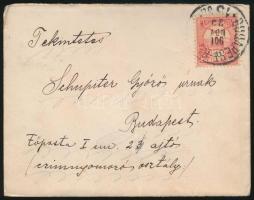 1901 Levél BUDAPEST - BA... vasúti bélyegzéssel