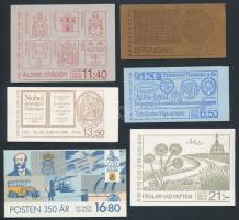 1973-1986 6 stamp-booklets, 1973-1986 6 klf bélyegfüzet