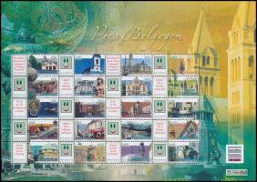 2009 Pécs bélyegem - Értékjelzés nélkül promóciós teljes ív sorszám nélkül (12.500)