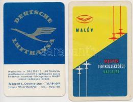 1959 MALÉV és Lufthansa reklámos kártyanaptár