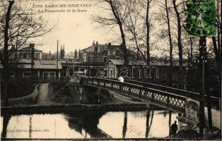 Migennes ; Gare de Laroche-Migennes La Passerelle et la Gare / railway station, bridge, TCV card
