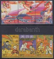 1997 Sárkányfesztivál + Küzdősportok 2 klf hármascsík Mi 913-915 + 943-945
