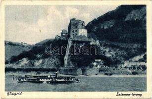 Visegrád, Salamon-torony, gőzhajó (EK)