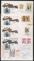 1991 13 db levél II. János Pál pápa magyarországi látogatásáról, közte retúr és 1 db Tihanyi apátság FDC