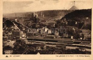 Longwy, Vue générale et la Gare, Les Usines Senelle / general view with railway station, factory buildings in backside
