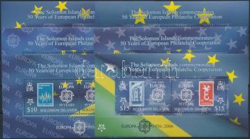 2005 50 éves az Europa CEPT blokk sor Mi 84-89