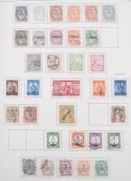 Különféle érdekes és tartalmas motívum gyűjtemények rengeteg tengerentúlival, teljes sorokkal vastag csavaros albumban, a használatlan bélyegek filázva