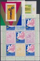 1973-1978 1 kisív, 1 bélyeg és 6 blokk 2 stecklapon