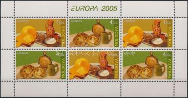 2005 Europa CEPT, Gasztronómia bélyegfüzet lap H-Blatt 6 (Mi 511-512)