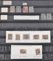 Oroszország speciál gyűjtemény 1858-1923 rengeteg változattal, többletpéldánnyal, különlegességgel 16 lapos A/4 berakóban / Russia specialised collection in A/4 stockbook