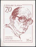 Czeslaw Slania stamp-booklet, Czeslaw Slania 70. születésnapja bélyegfüzet