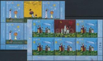 2008 Gyermekrajz, Európai öröm sor ívszéli szelvényes 6-os tömbökben Mi 192-193