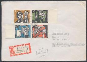 1958 Jótékonyság sor ajánlott levélen