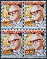 Eugen Suchon's birth centenary block of 4, Eugen Suchon 100. születésnapja 4-es tömb