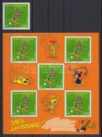 Greeting Stamp stamp + minisheet, Üdvözlőbélyeg bélyeg + kisív
