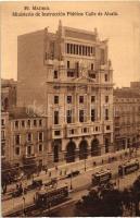 Madrid, Ministerio de Instrucción Publica, Calle de Alcalá / street, Ministry of Education, trams, automobile