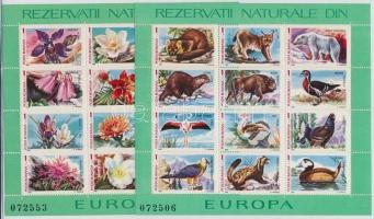 Flowers and animals block set, Virág és állat blokksor