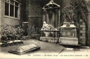 London, The Middle Temple, The Tomb of Oliver Goldsmith