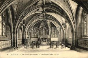 London, The House of Commons, The Crypt Chapel, interior