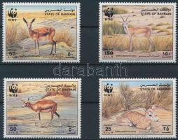 WWF: Gazelle set + 4 FDC, WWF: Gazellák sor + 4 db FDC