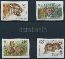 1993 WWF: Szibériai tigris sor Mi 343-346 + 4 db FDC