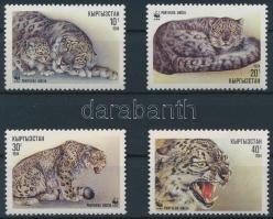 WWF: Hóleopárd sor + 4 db FDC WWF: Leopard set + 4 FDC