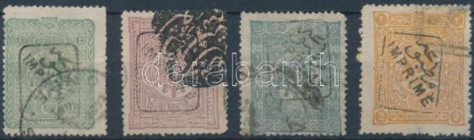 1892 Forgalmi sor záróérték nélkül Mi 74-77