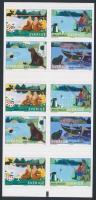 Summer on the lake selfadheshive stampbooklet, Nyár a tavon öntapadós bélyegfüzet