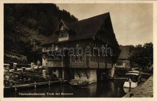 Brunnen, Vierwaldstättersee, Wirtschaft Treib / Hotel(?), motorboat