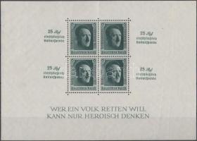 1937 Hitler felülnyomott blokk Mi 9