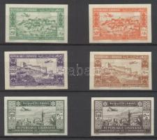 1943 Légiposta vágott sor / imperforate set Mi 271-276 Signed: Sanabria (Mi 275 pici gumihiba / gum disturbance, Mi 276 falcos / hinged)