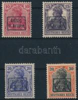 Romania 1917 Etappengebict des 9. Arnee Mi 1-4