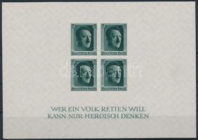 1937 Hitler blokk Mi 8