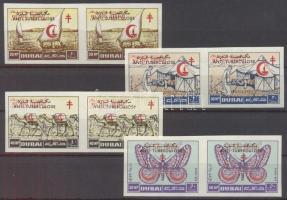 Fight against Tuberculosis set airmail stamps in pairs Tuberkulózis elleni küzdelem sor légi értékei párokban