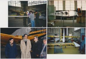 Dr. Pfeilmayer Artúr, a GAK-22 Dino motoros repülőgép egyik tervezőjének fotói, 6db, különböző méretben és minőségeben, 10x16cm