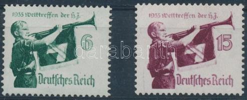 1935 Hitler-Jugend Világtalálkozója sor Mi 584-585
