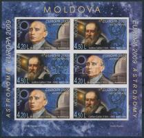 2009 Europa CEPT, asztronómia bélyegfüzetlap H-Blatt 11 B (Mi 650-651 B)