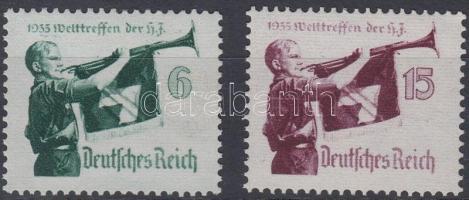 1935 Hitler-Jugend találkozó sor Mi 584-585