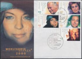 2000 Német nyelvű színészek sor Mi 2143-2147 FDC