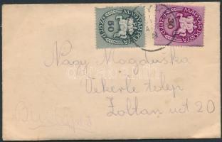 1946 (11. díjszabás) Távolsági kis levél Lovasfutár 30eP + 50eP bérmentesítéssel
