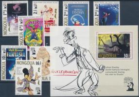 1991 Walt Disney mesék sor Mi 2340-2347 + blokk 178
