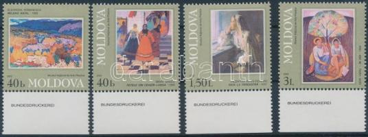 2002 Festmények ívszéli sor Mi 425-428