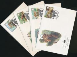 1983 WWF: Jaguár sor Mi 719-722 + 4 FDC