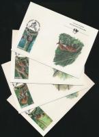 1984 WWF: Okapi sor Mi 875-878 + 4 FDC